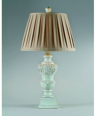 Shown in Cream Ceramic finish and Fabric shade
